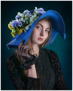 PSA HM Ribbons - Wendy Wai Man Lam (Hong Kong)  Blue Hat Girl