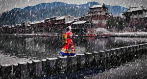 SPC Merit Award - Shenghua Yang (China)  Snow Rhyme Of Ancient City
