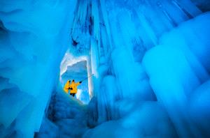 PhotoVivo Honor Mention - Pan Dai (China)  Explore Into The Ice Cave