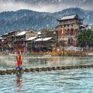 PhotoVivo Gold Medal - Shenghua Yang (China)  The Old Town With Snow